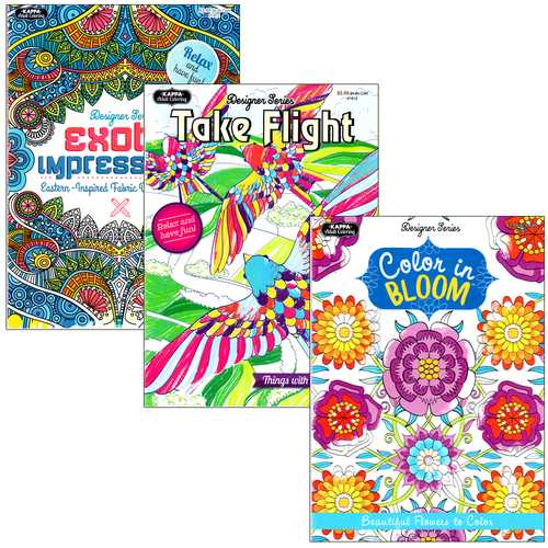 Case of [48] Kappa Adult Coloring Book, Assorted
