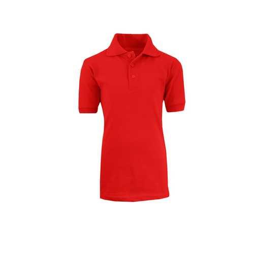 Case of [36] Boys School Red Uniform Short Sleeve Polo Shirts - Size Size 8-18