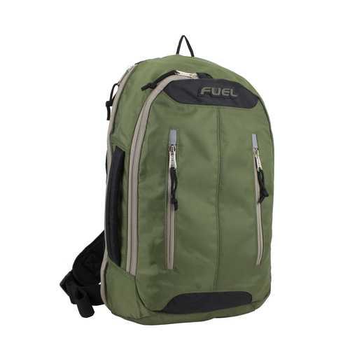 "Case of [12] 18"" Fuel Premium Crossbody Backpack - Hunter Green"