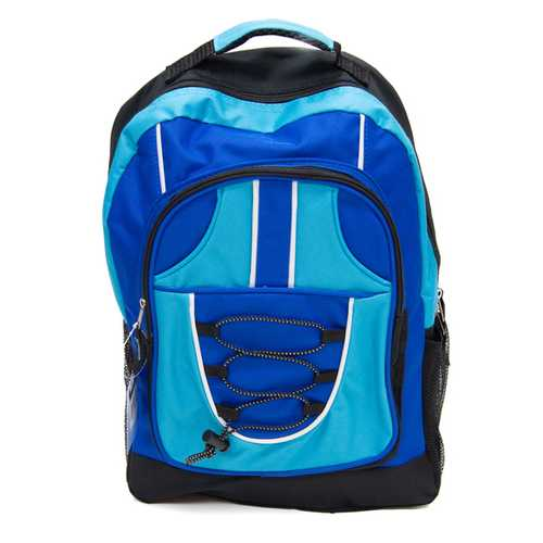"""Case of [12] 18"""" Classic Bungee Backpack - Blue"""