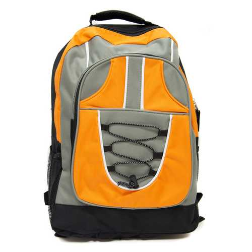 """Case of [12] 18"""" Classic Bungee Backpack - Orange"""