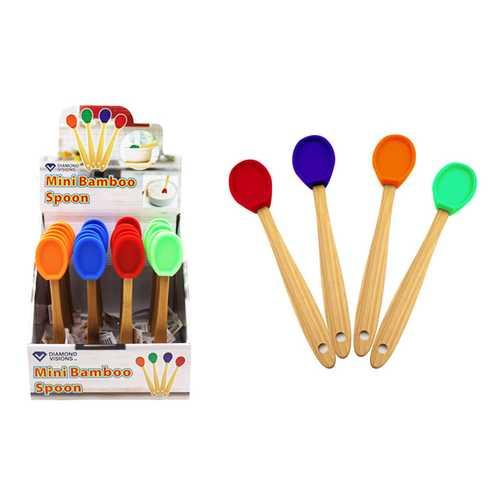 Case of [24] Mini Bamboo Spoon