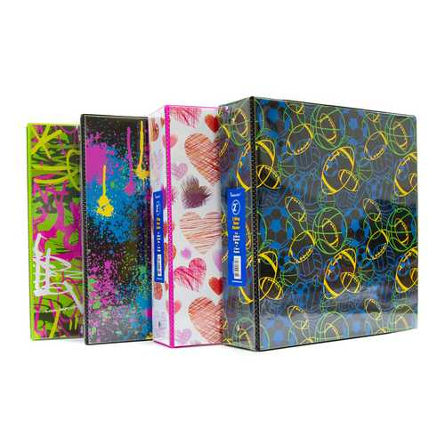 "Case of [12] 2"" Patterned 3-Ring Binders"