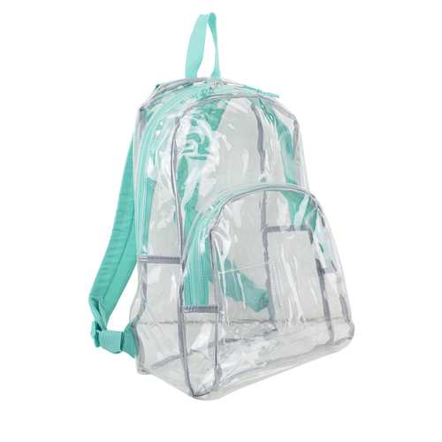 """Case of [12] 17"""" Eastsport Basic Clear Backpack - Turquoise"""