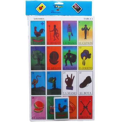 "Case of [24] 11""x17"" Loteria Mexican Bingo"