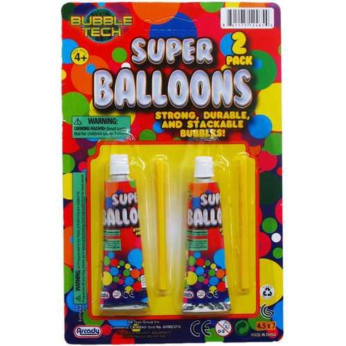"Case of [144] 2-Piece 3.25"" Super Balloons Play Set"