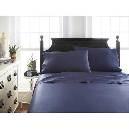 Case of [12] Soft Essentials Premium Bamboo 4 Piece Luxury Bed Sheet Set(California King - Navy)
