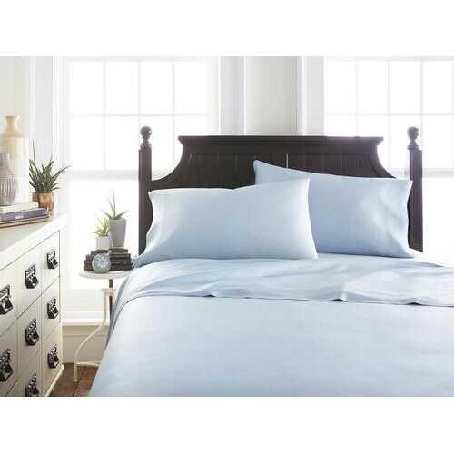 Case of [12] Soft Essentials Premium Bamboo 4 Piece Luxury Bed Sheet Set(Full - Light Blue)