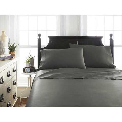 Case of [12] KingPremium Bamboo 4 Piece Luxury Bed Sheet Set - Gray
