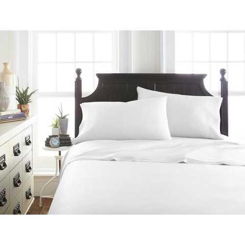 Case of [12] QueenPremium Bamboo 4 Piece Luxury Bed Sheet Set - White