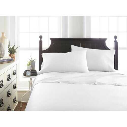 Case of [12] TwinPremium Bamboo 3 Piece Luxury Bed Sheet Set - White