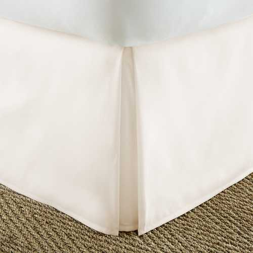 Case of [12] KingPremium Pleated Bed Skirt Dust Ruffle - Ivory