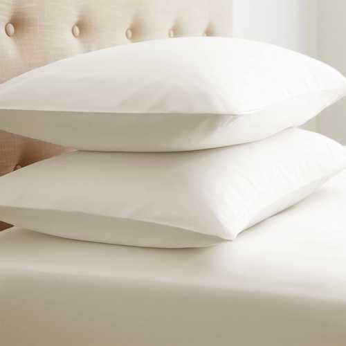 Case of [12] StandardDouble-Brushed Microfiber 2 Piece Pillow Case Set - Ivory