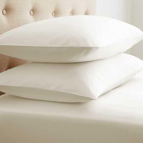 Case of [12] StandardDouble-Brushed Microfiber 2 Piece Pillow Case Set - Light Gray