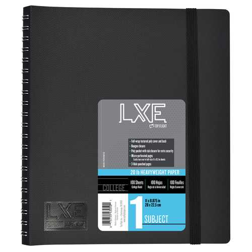 Case of [12] LXE 1 Subject Upgrade Poly Spine Wrapped Notebook
