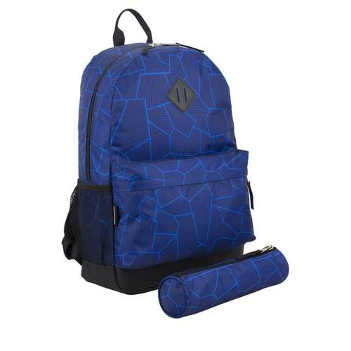 """Case of [24] 18"""" Eastsport Premium Backpack with Pencil Case - Blue"""
