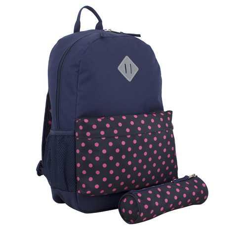 "Case of [24] 18"" Eastsport Premium Backpack with Pencil Case - Polka Dot"