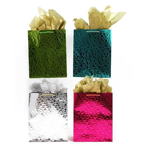 """Case of [108] Extra Large Embossed """"Bright's!"""" Brown Kraft Gift Bag"""