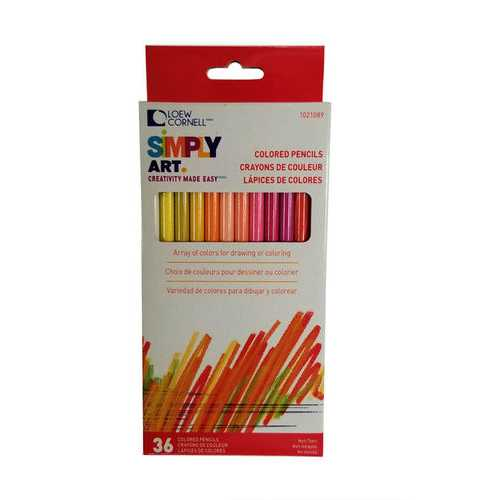 Case of [48] Lowe-Cornell 36-Count Colored Pencils