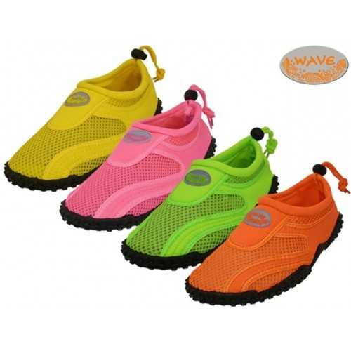 Case of [36] Women's Neon Color Wave Water Shoes - Size 6-11