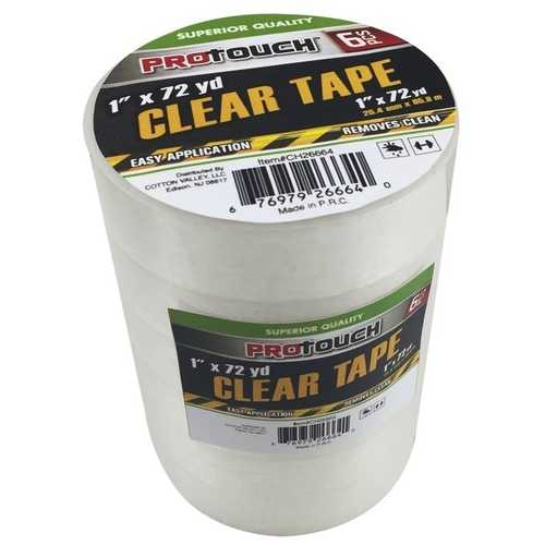 Case of [24] 6 Pack Clear Tape