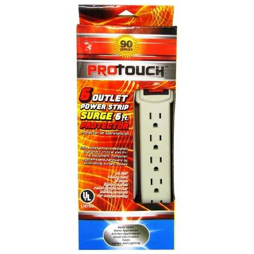 Case of [12] 6 Foot 6 Outlet Power Strip