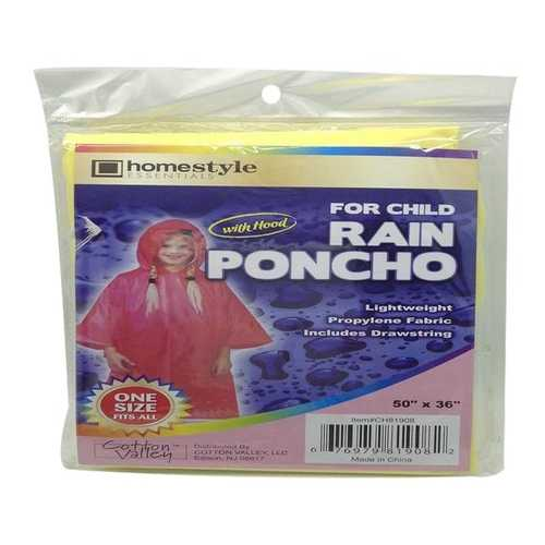 Case of [48] Child Rain Poncho with Hood