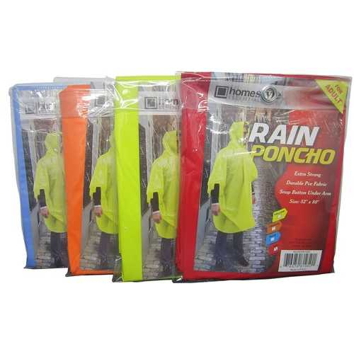 Case of [24] Rain Poncho - Assorted Colors