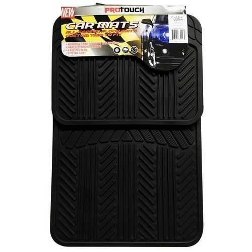 Case of [6] 4Pcs Black Pvc Car Mat