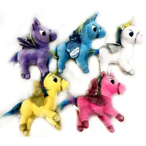 """Case of [36] 9"""" Unicorn Plush Toy - Assorted Colors"""