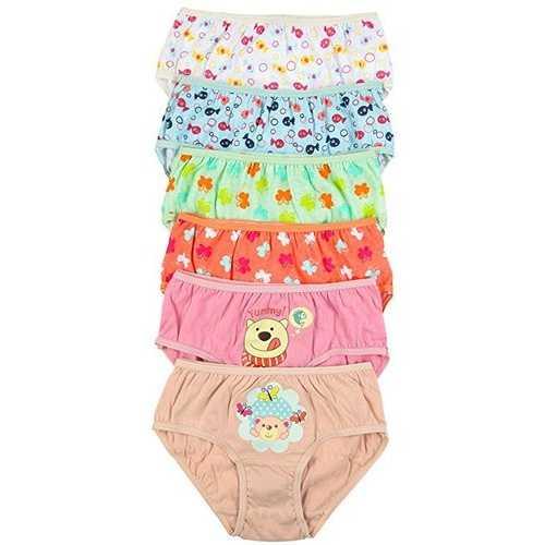 Case of [120] Girls Assorted Print Panties - Size Medium