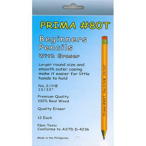 Case of [12] Prima Beginners Pencils with Erasers