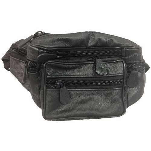 Case of [24] 7 Pocket Fanny Pack - Black