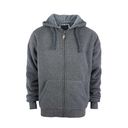 Case of [12] Boys Full Zip up Fleece Hoodie Sweatshirt - Dark Grey