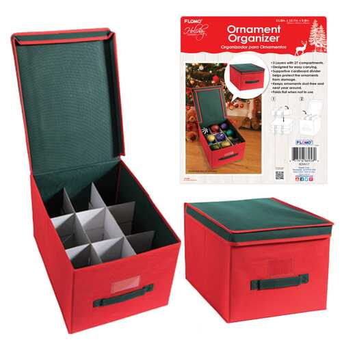 Case of [12] Christmas Ornament Storage Organizer