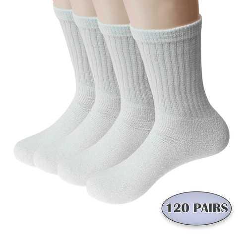 Case of [120] Men's Crew Cut Athletic Socks Size 9-11