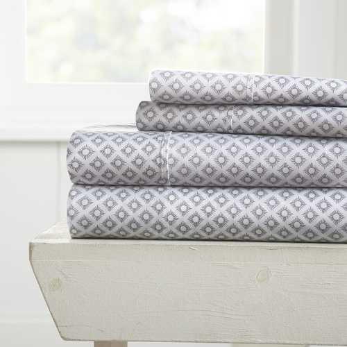 Case of [12] Full Polari Pattern 4 Piece Bed Sheet Set