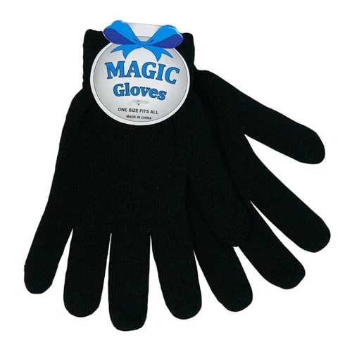 "Case of [120] Adults Wholesale Winter Magic Gloves 8"" ( All Black)"