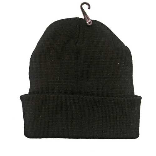 Case of [120] Adult Wholesale Winter Beanies (All Black)