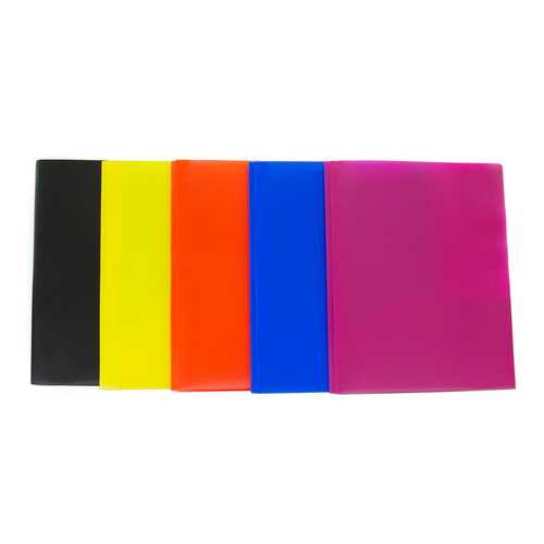 """Case of [100] Plastic 2 Pocket Folder with Prongs - Assorted Colors - 9.3"""" x 11.3"""""""