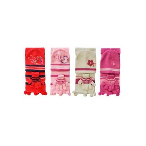 Case of [120] Toddlers' Knit Hat, Gloves & Scarf Set