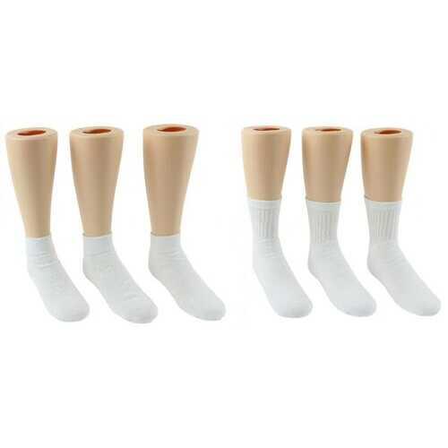 Case of [144] Toddler's Athletic Socks Combo - White - Size 1-3