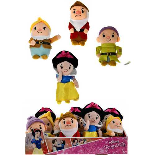 "Case of [60] 6""Just Play Snow White Stylized Bean Plush Toy - Assorted"