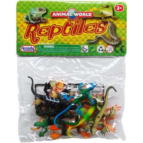 "Case of [108] 10-Piece 2.5"" Assorted Lizards"