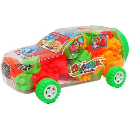 """Case of [12] 48-Piece Assorted Color Blocks in 11.5"""" Car"""
