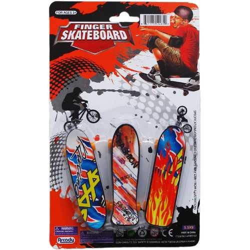 "Case of [144] 3-Piece 3.75"" Finger Mini Skateboard Play Set"