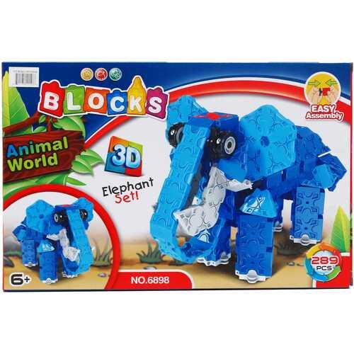 Case of [24] 289-Piece 3D Elephant Block Play Set