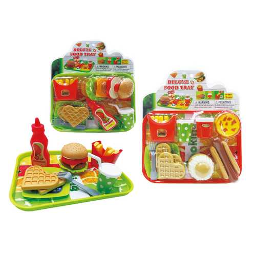 Case of [36] Deluxe Food Tray Play Set (2 Asstd.)