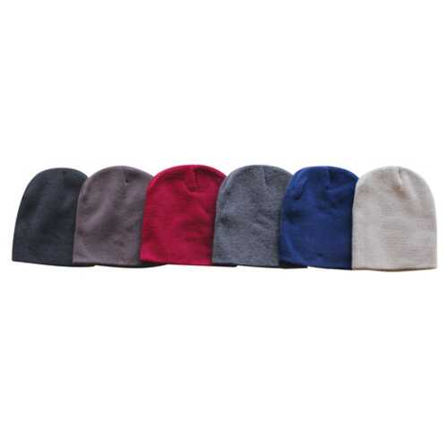 Case of [120] Adult Cuffless Beanies - Assorted Colors