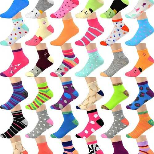 Case of [120] Assorted Kids Socks size 2-8